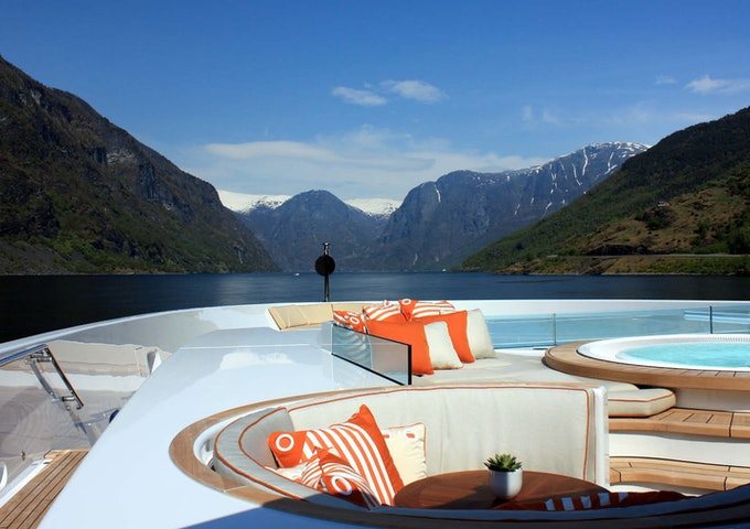 Hermitage completed yacht deck