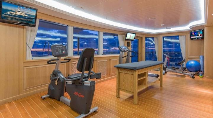 BELLA VITA luxury yacht GYM