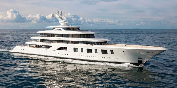 Aquarius Feadship 96m for sale with Moran Yacht and Ship