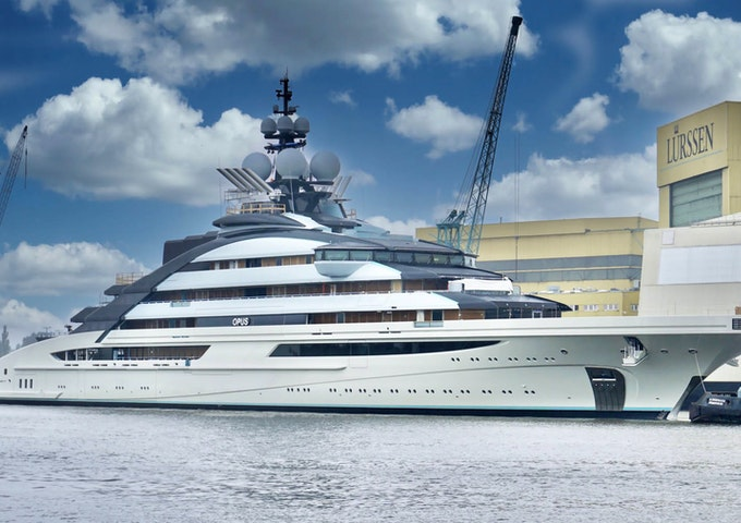 Lurssen mega yacht OPUS Completed by Moran Yachts