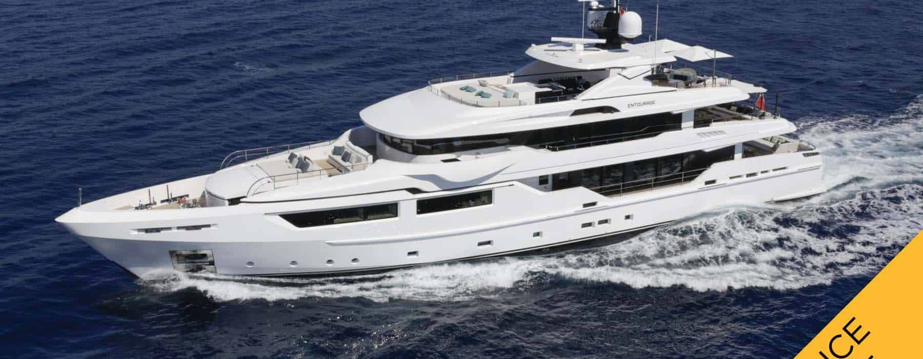ENTOURAGE Admiral Luxury yacht for sale PRICE REDUCED