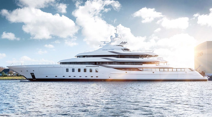 Luxury megayacht MADSUMMER 95m Lurssen under construction by Moran Yachts