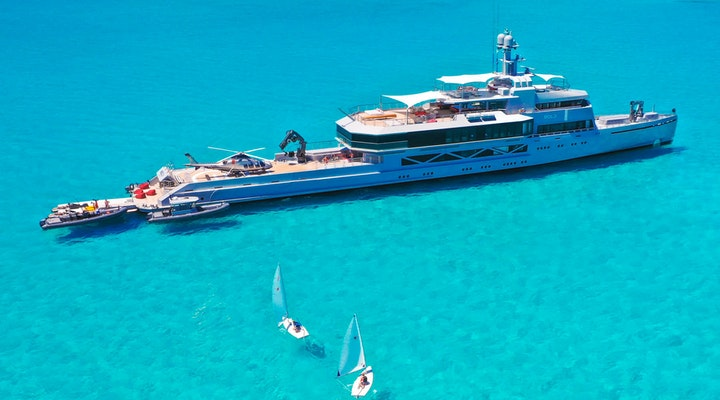 Luxury megayacht BOLD for charter 85m Silveryachts