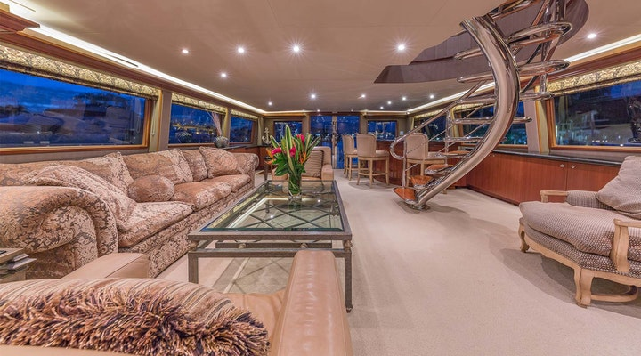 Luxury 37m motor yacht ANDIAMO available for Bahamas charter