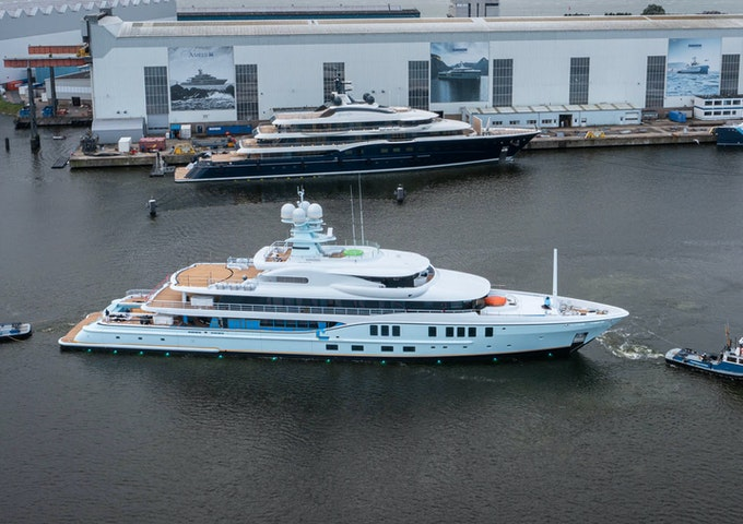 Motor Yacht Amels SHADOW under construction by Moran Yachts