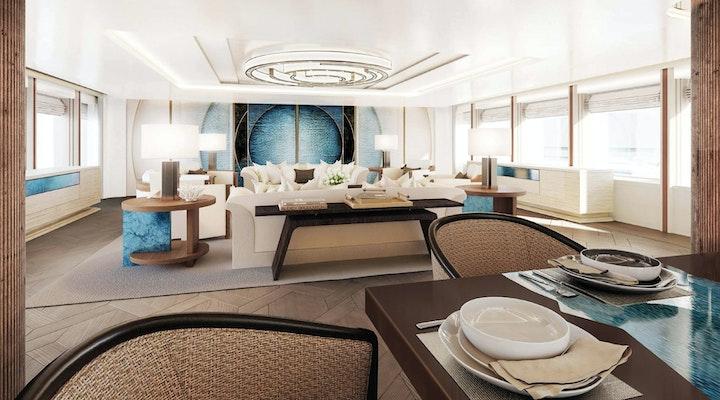 AMELS 242 For Sale - Main Salon - Moran Yacht & Ship