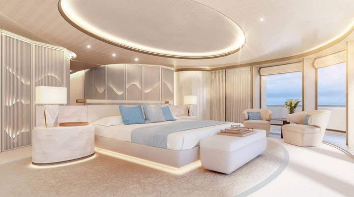 AMELS 242 Master Stateroom - Moran Yacht & Ship