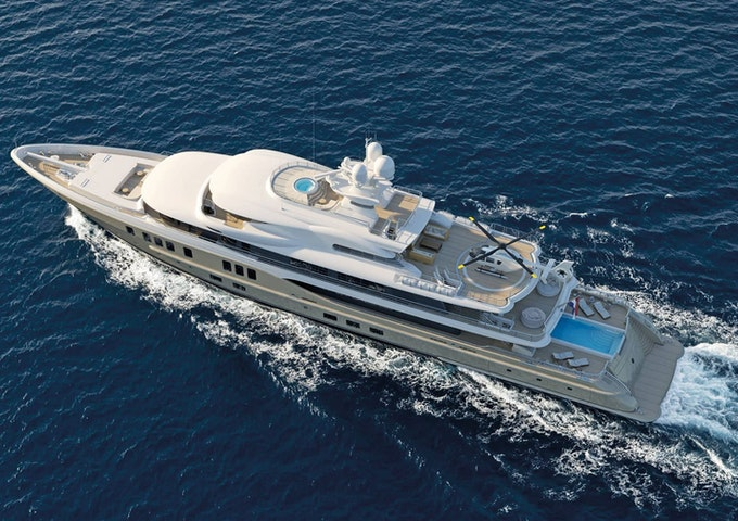 AMELS 242 For Sale Overhead View - Moran Yacht & Ship