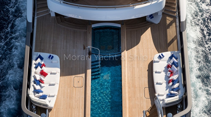 Lurssen MADSUMMER Aft Deck and Pool