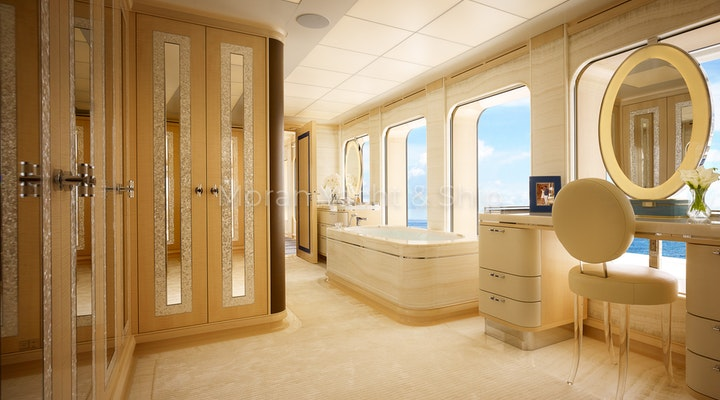 Feadship AQUARIUS Available For Sale - Master Bath