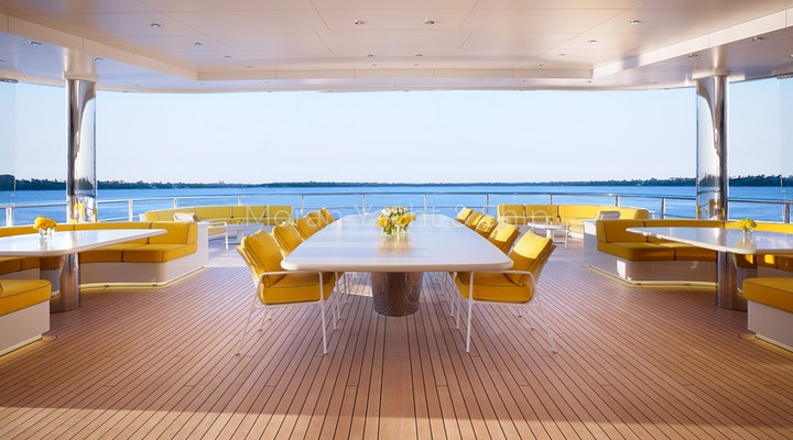Feadship AQUARIUS Available For Sale - Outdoor Dining