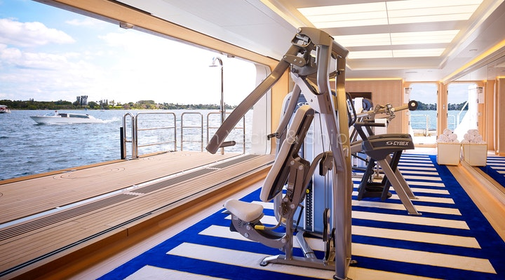 Feadship AQUARIUS Available For Sale - Gym