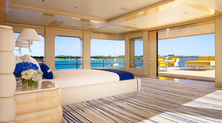 Feadship AQUARIUS Available For Sale - Master Stateroom