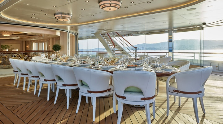 Completed Lurssen TIS Outdoor Dining