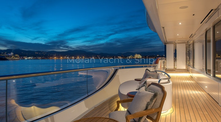 Completed Lurssen TIS Owners Deck Night