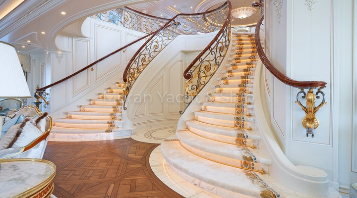 Completed Lurssen TIS Grand Staircase