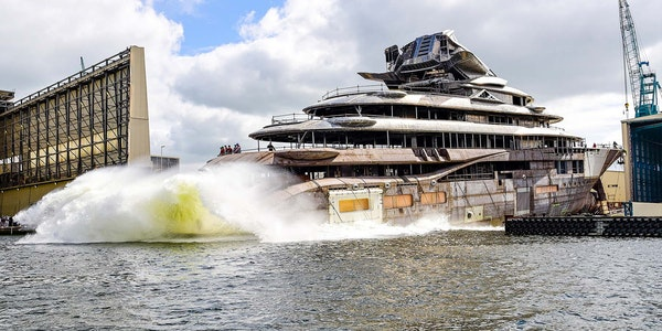 project jag 400ft 122m lurssen yacht launched