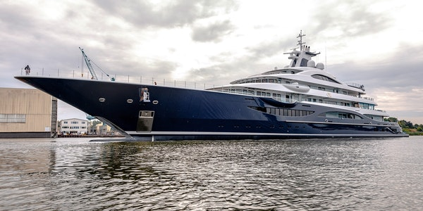 111m Lurssen TIS Launched by Moran Yacht & Ship