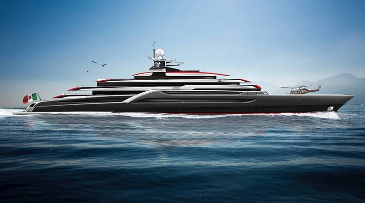Megayacht TESTAROSSA Lurssen 116m new build project