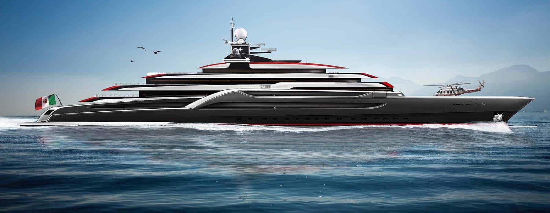 Megayacht TESTAROSSA Lurssen 116m new build project