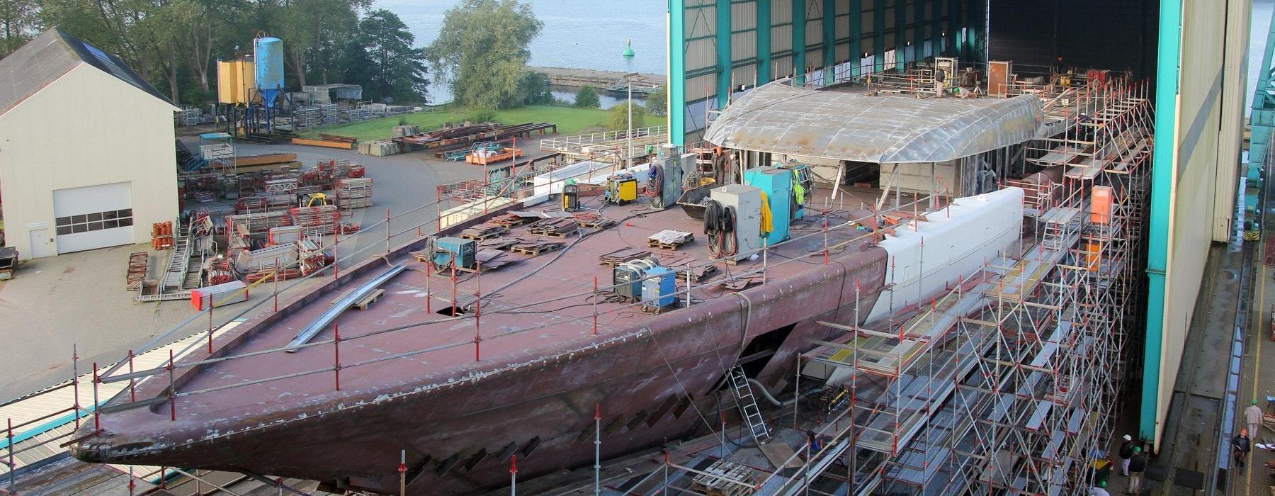 Yachts Under Construction - Moran Yacht & Ship